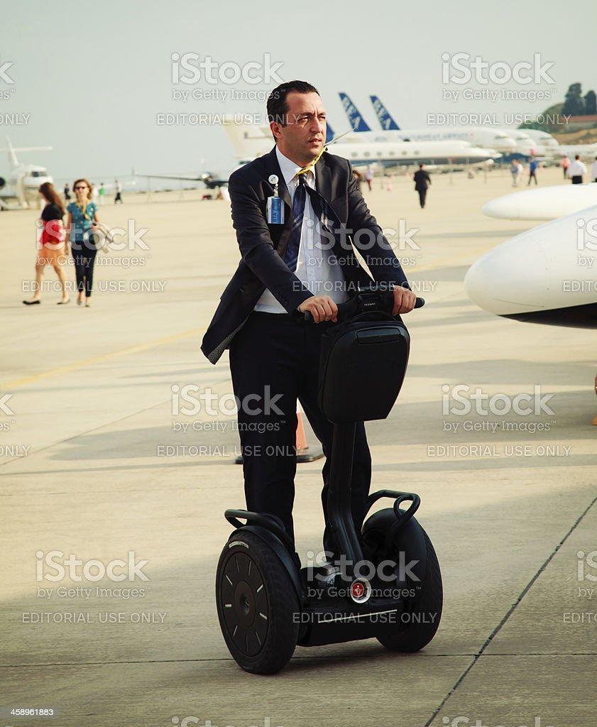 Businessman On Segway royalty-free stock photo