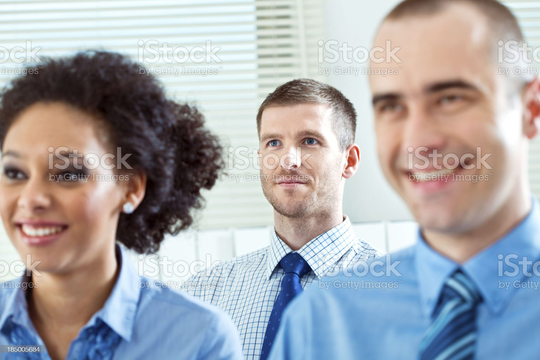 Businessman on seminar royalty-free stock photo