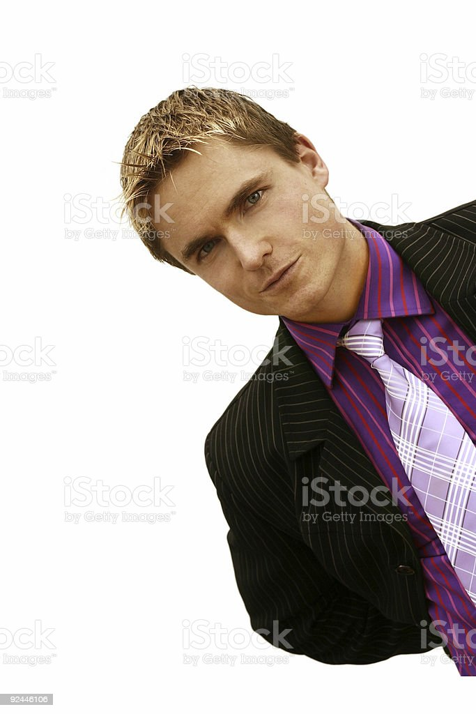 Businessman on the edge royalty-free stock photo