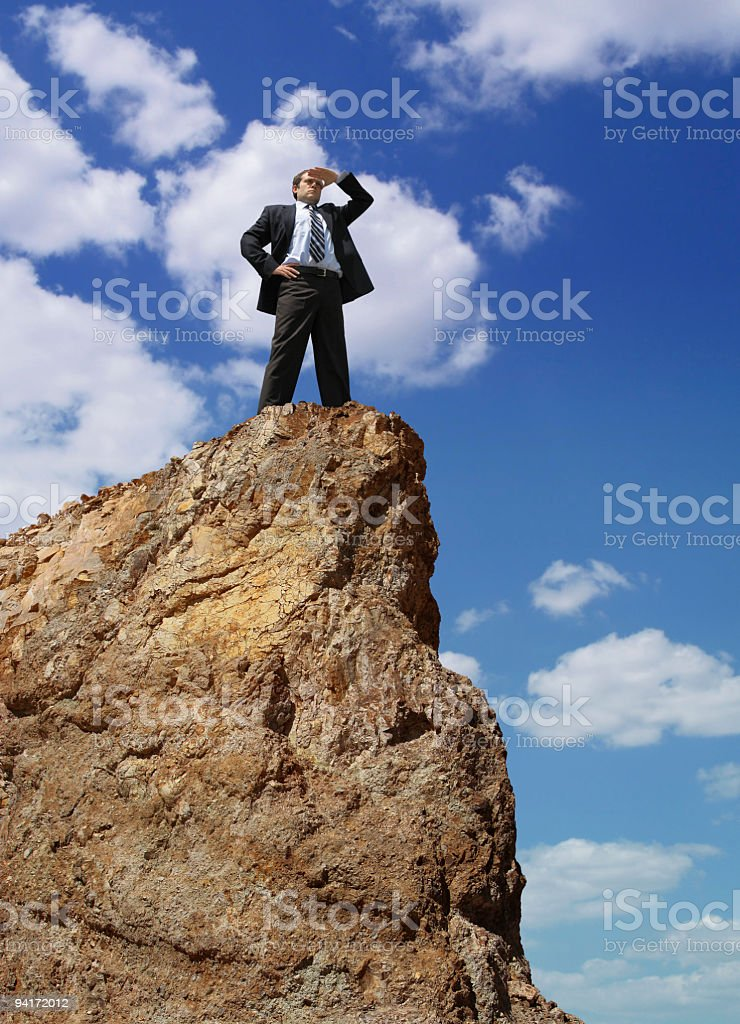 Businessman On The Hill royalty-free stock photo