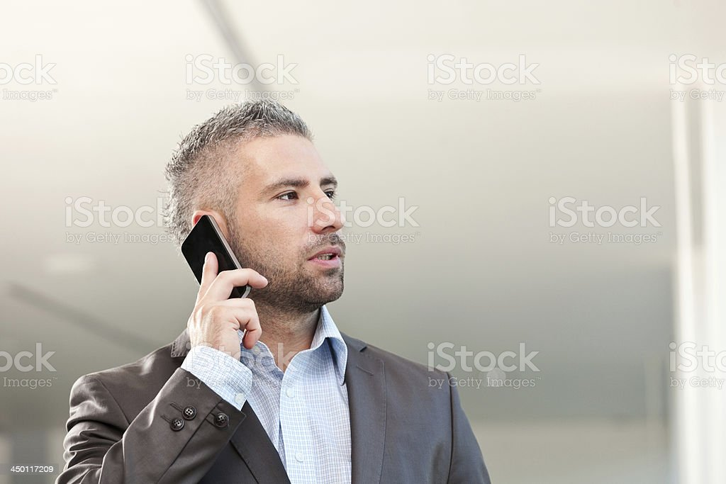 Businessman on the phone royalty-free stock photo