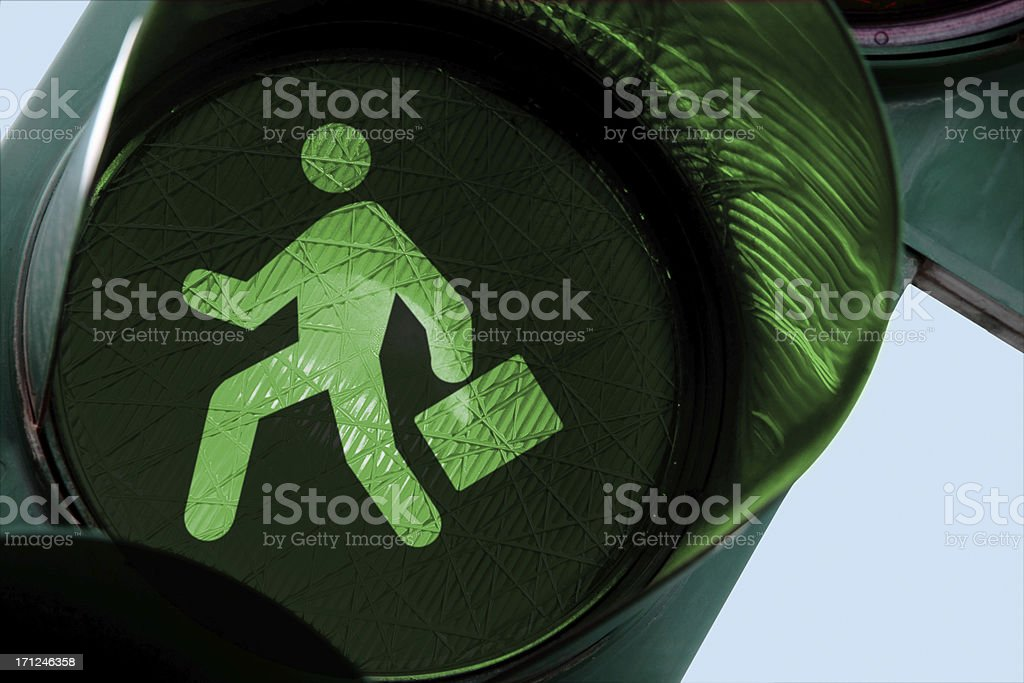 Businessman on the run stock photo