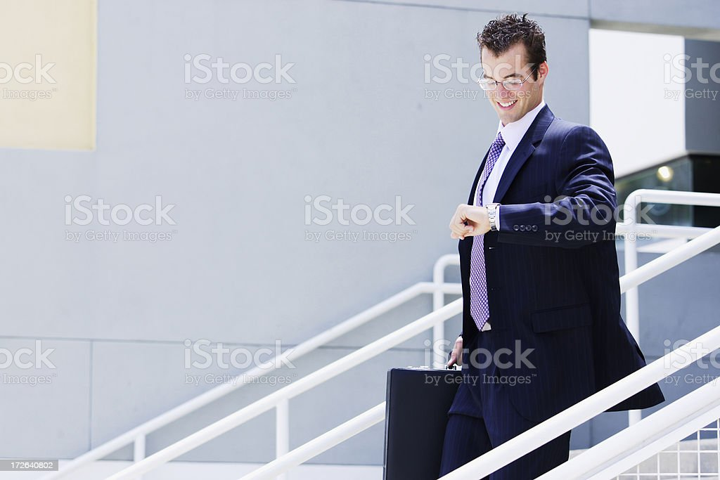 Businessman on Time stock photo