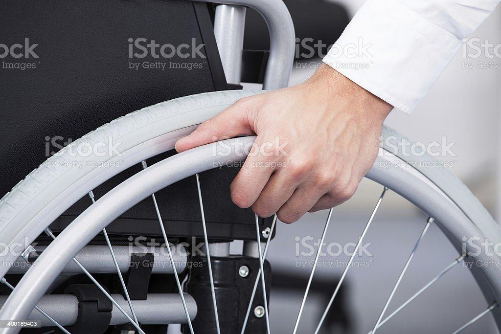 Businessman On Wheelchair stock photo
