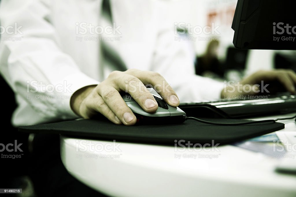 businessman on work royalty-free stock photo