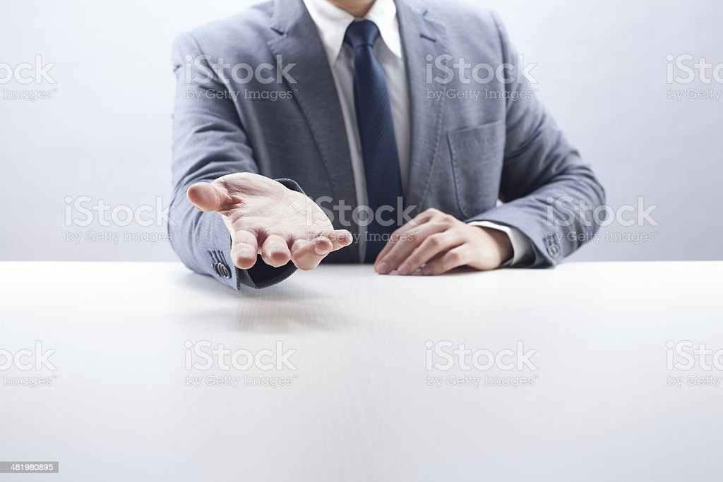 Businessman Open Hand royalty-free stock photo