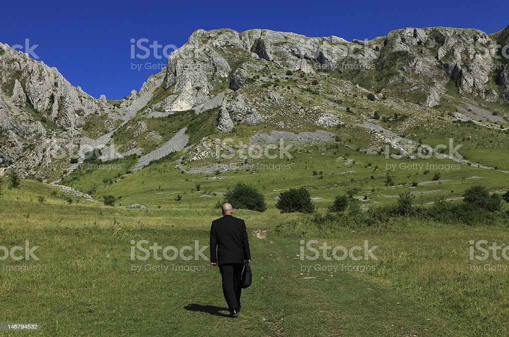 Businessman outdoors royalty-free stock photo