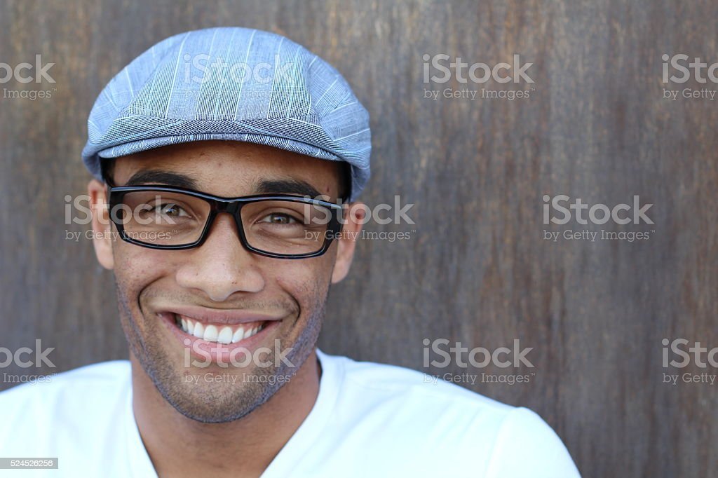 Businessman Outside Office with copy space on the left stock photo