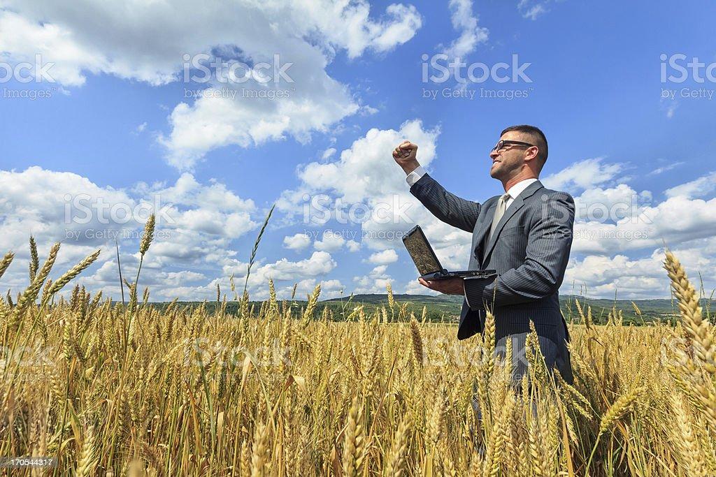 Businessman outside  success stock photo
