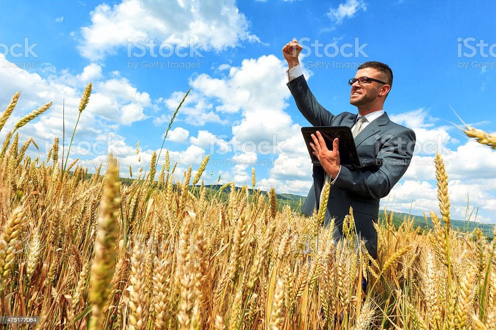 Businessman outside  success stock photo