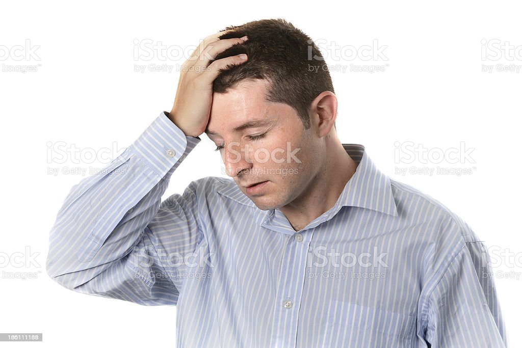 businessman over worked headache royalty-free stock photo