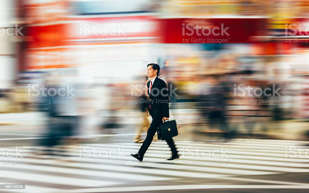 Businessman Pedestrian stock photo