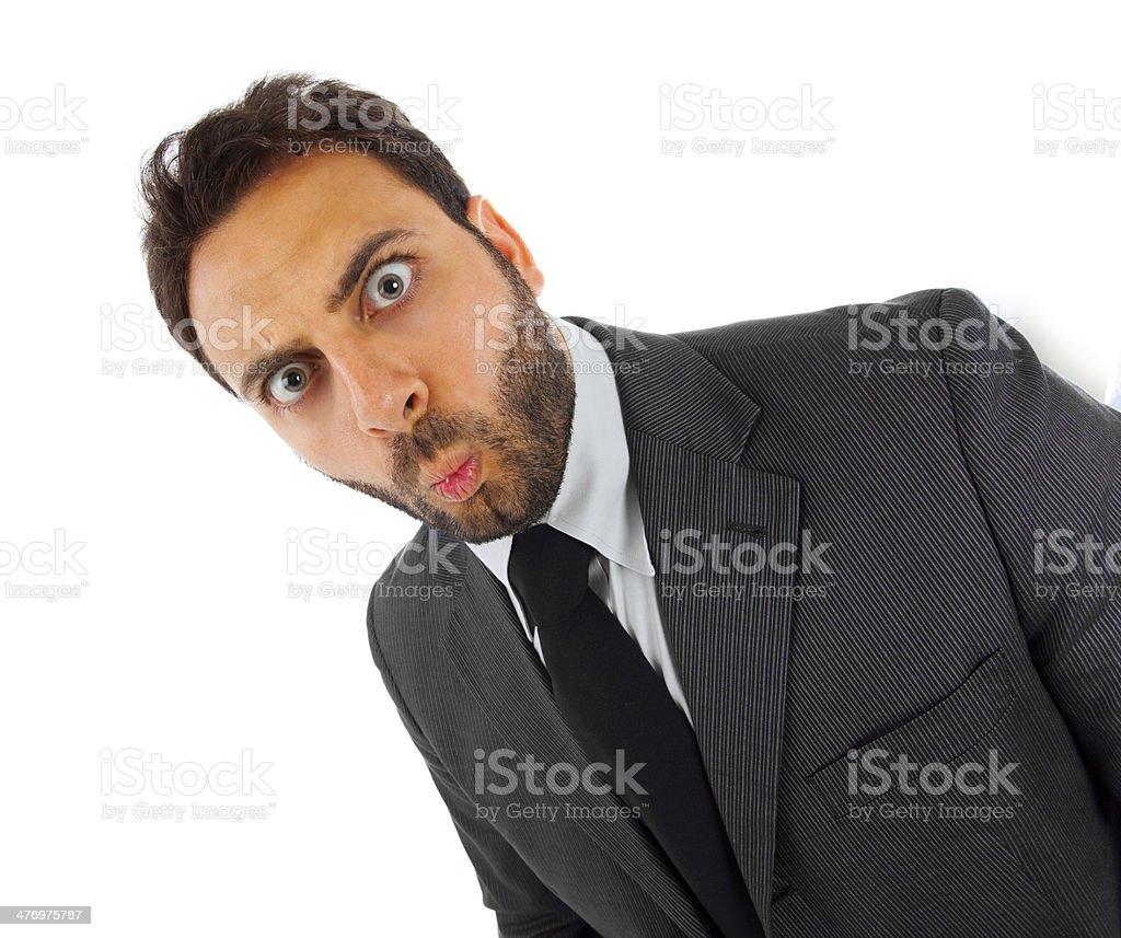 WOW Businessman stock photo