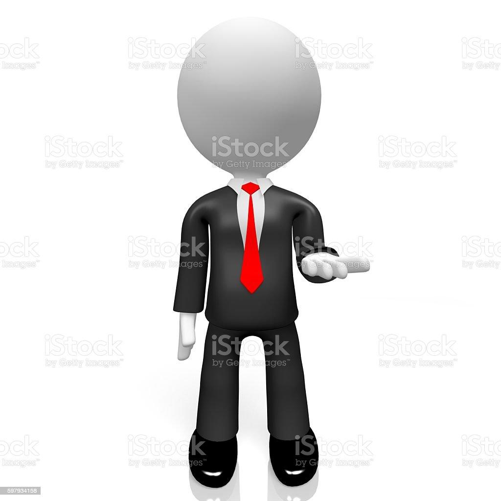 3D businessman stock photo