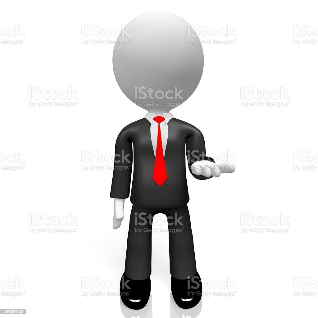 3D businessman stock photo