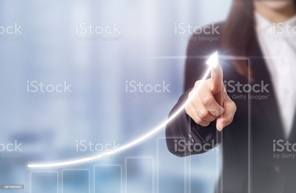 Businessman plan growth royalty-free stock photo