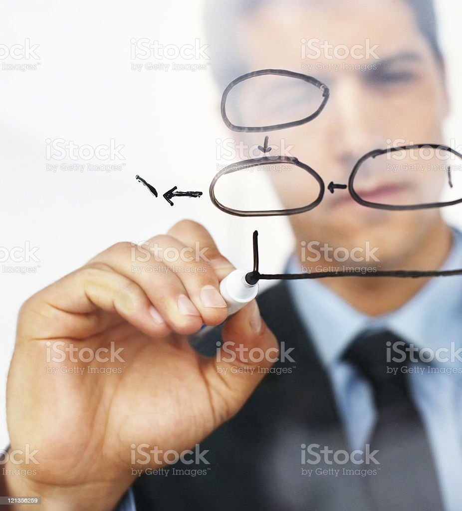Businessman planning for success stock photo