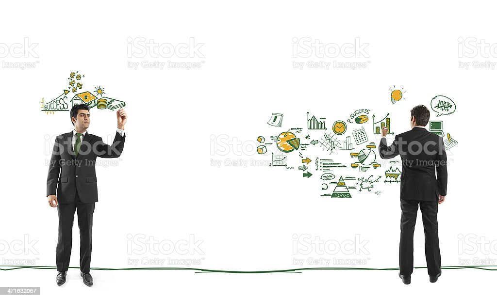 Businessman planning royalty-free stock photo