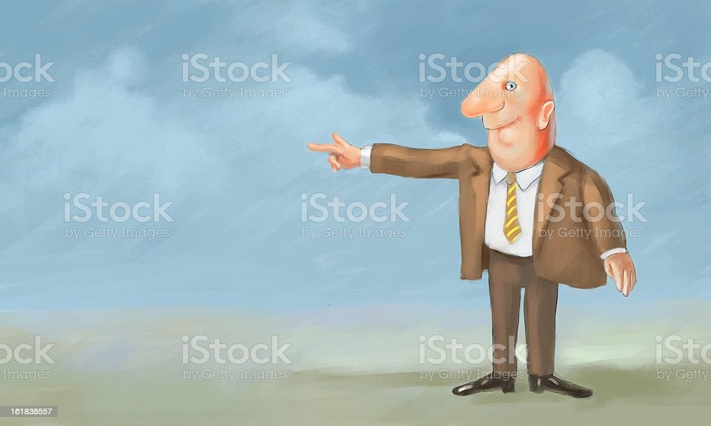 businessman pointing royalty-free stock photo