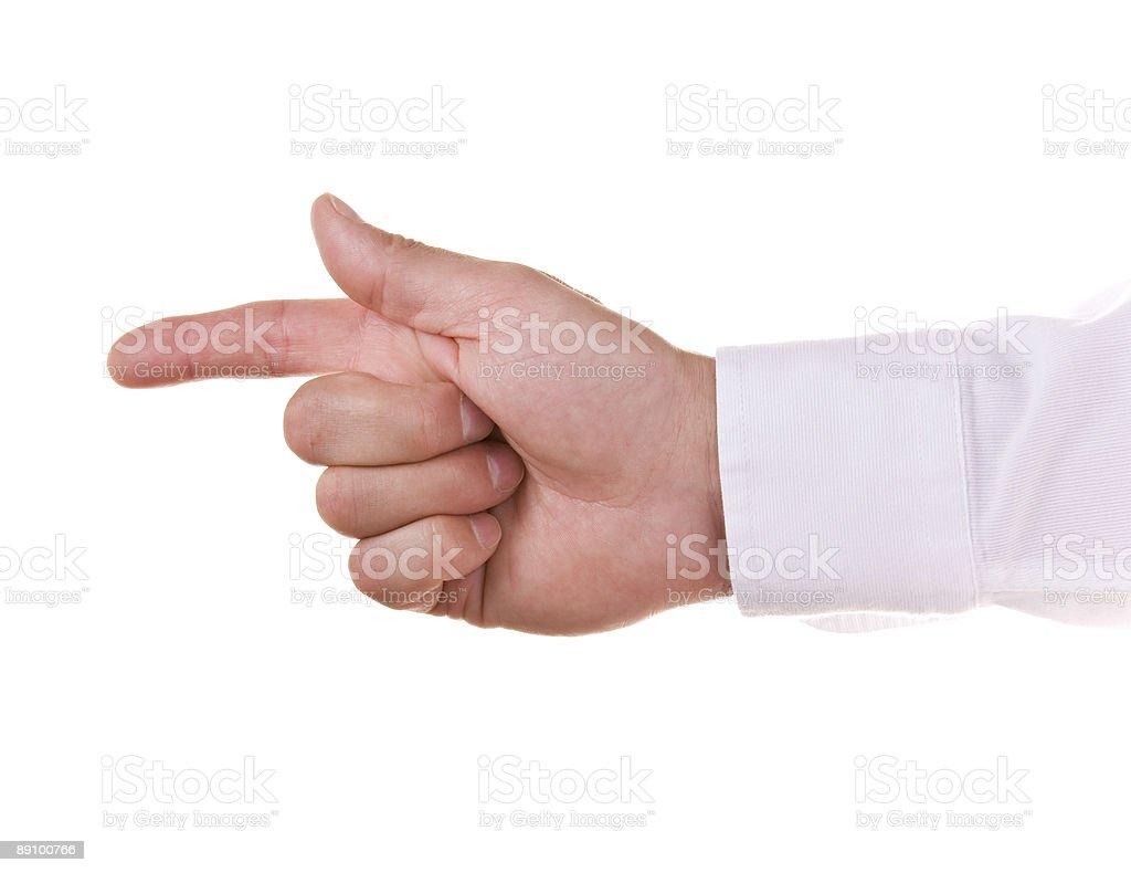 Бизнесмен, указывающая на что-то, Стоковые фото Стоковая фотография