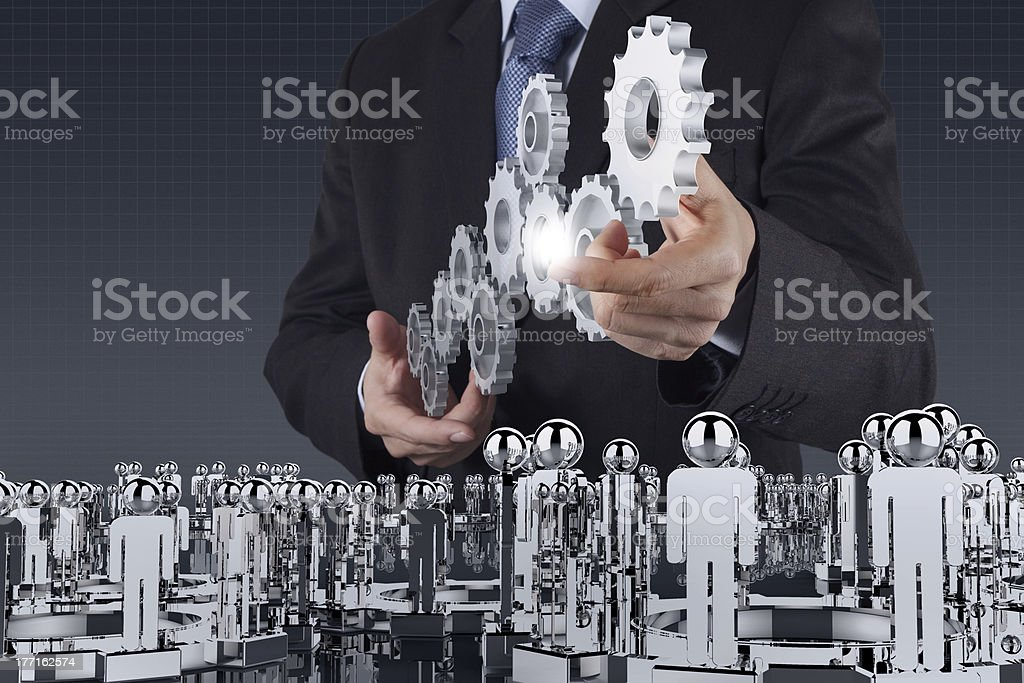 businessman  pointing to investment concept royalty-free stock photo
