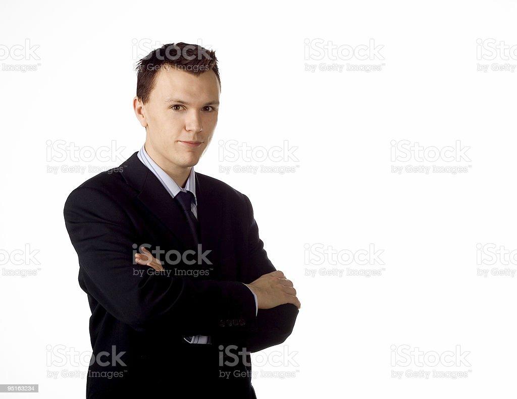 Businessman posing royalty-free stock photo
