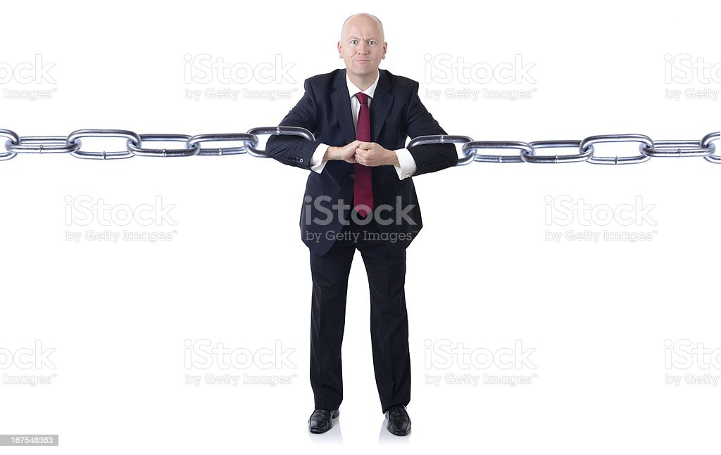 Businessman power royalty-free stock photo