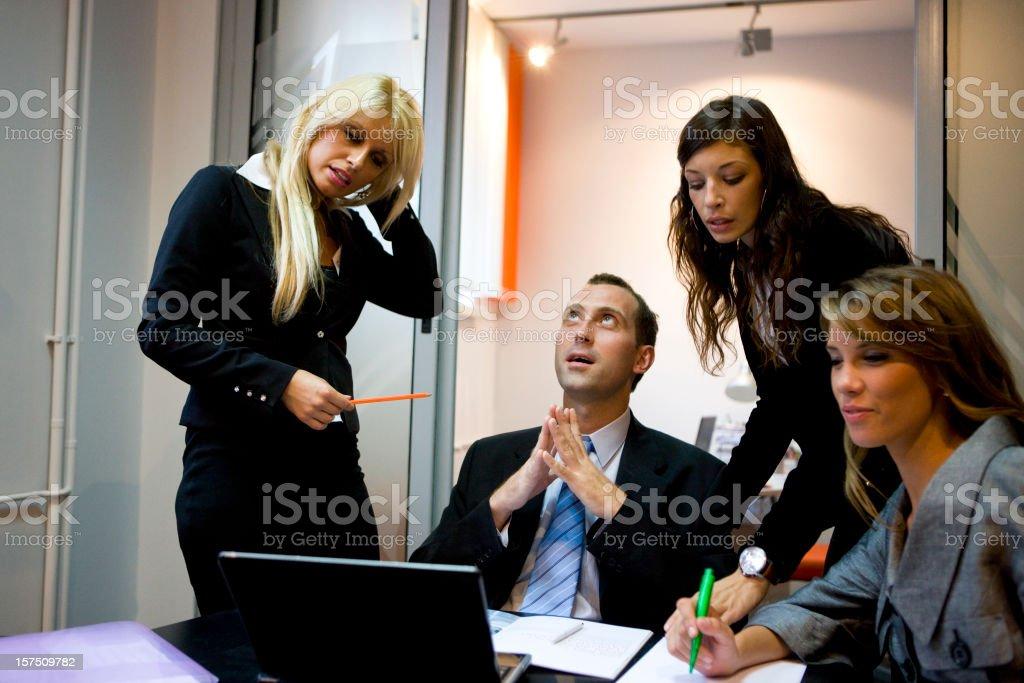 Businessman praying royalty-free stock photo