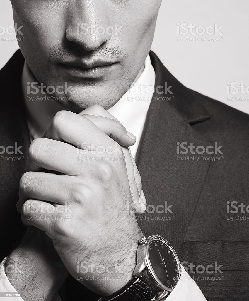 businessman praying royalty-free stock photo