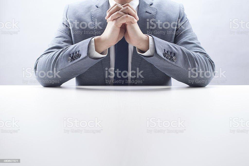 Businessman Praying stock photo