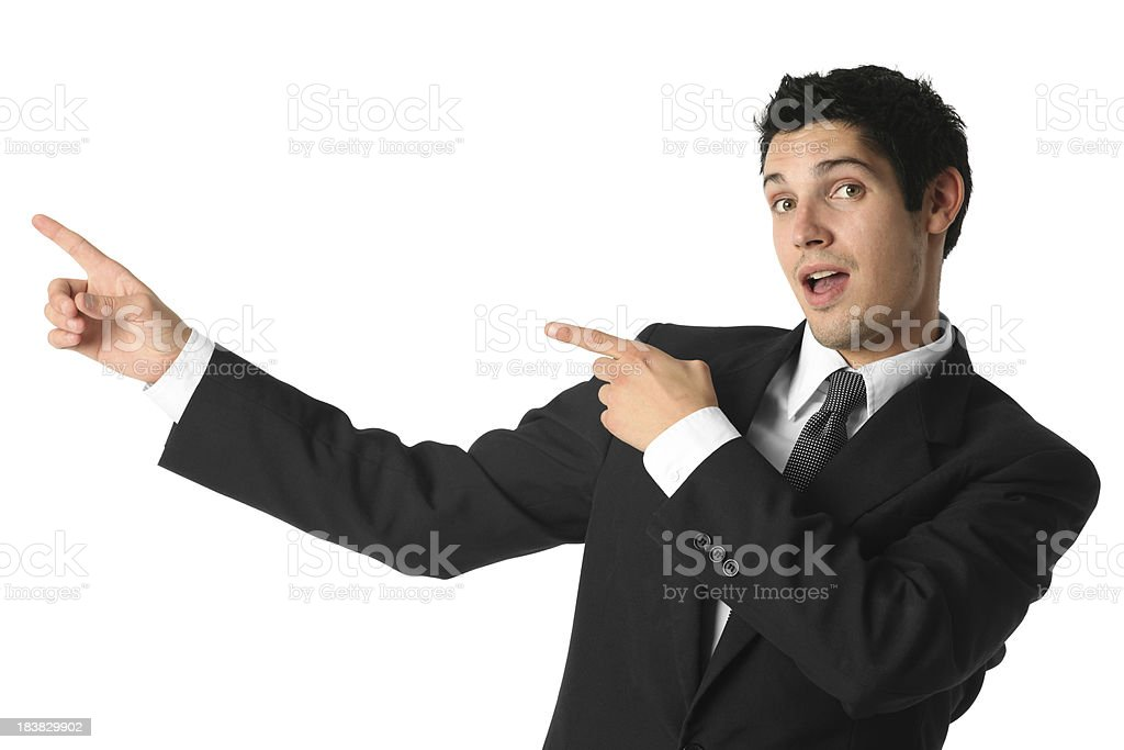 Businessman presenting royalty-free stock photo
