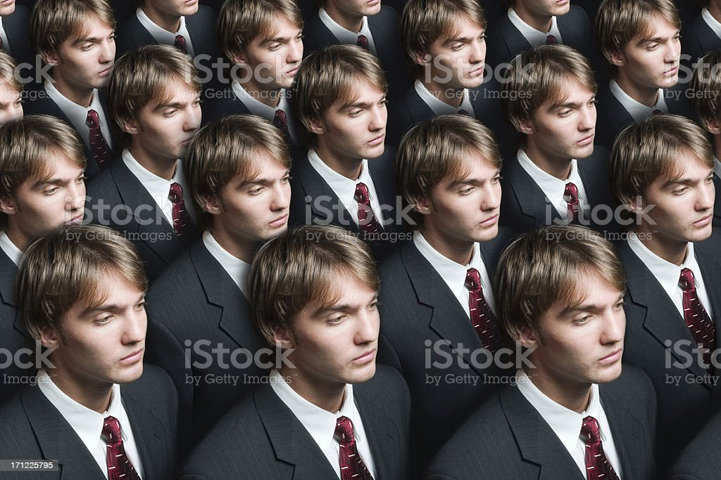 Businessman production stock photo