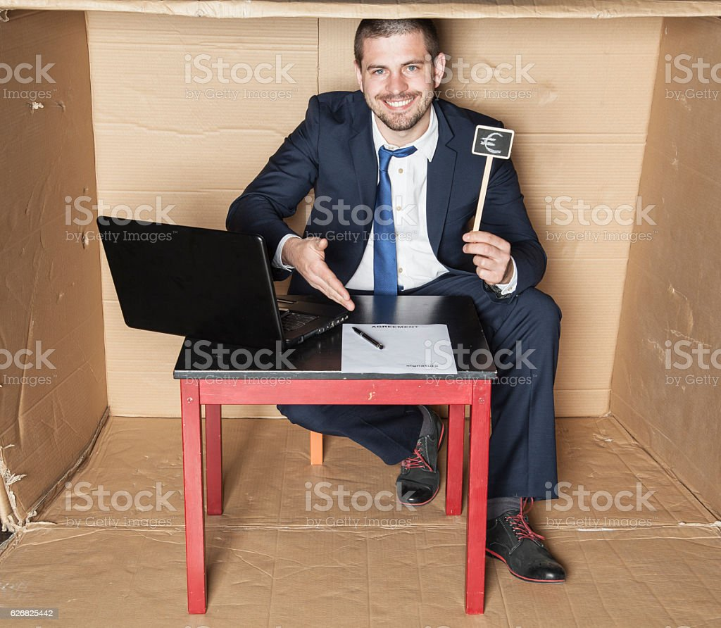 businessman promises big money stock photo