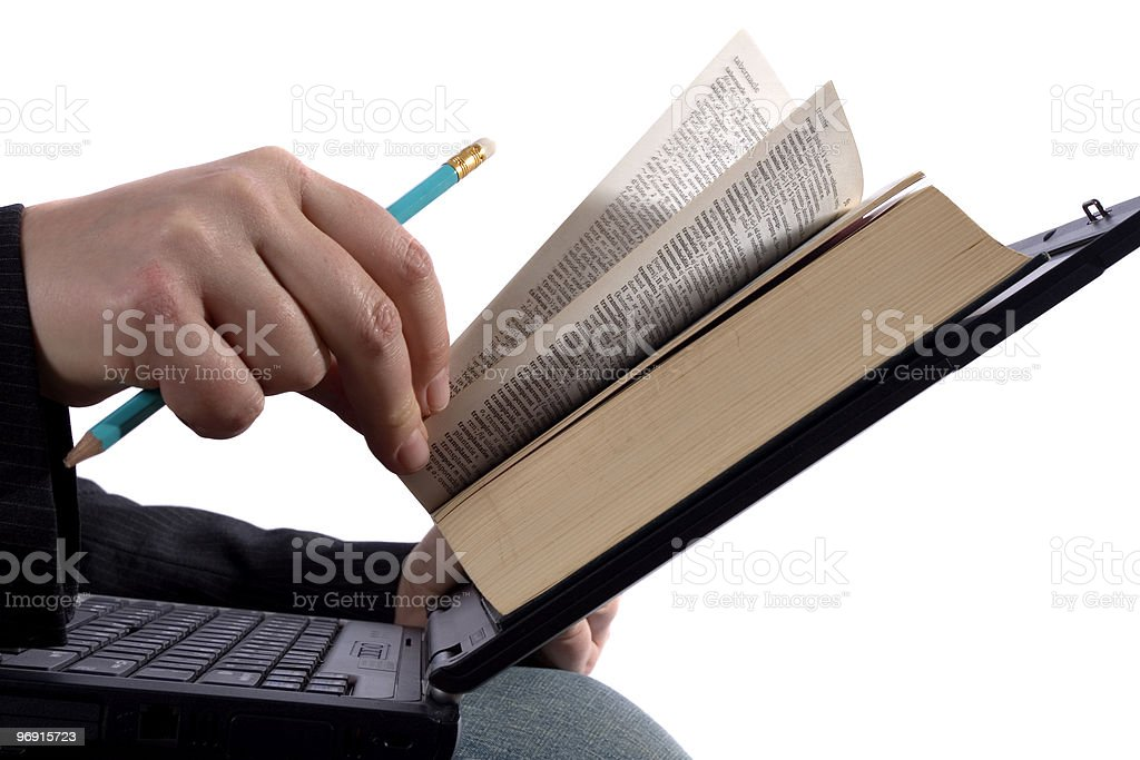 Businessman reading an e-book royalty-free stock photo