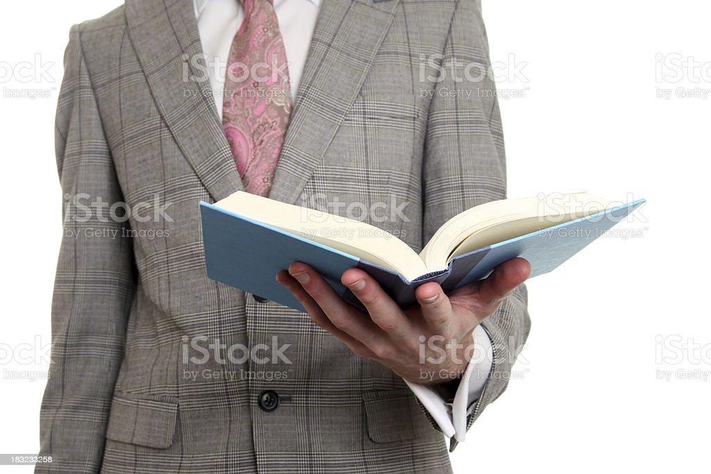 Businessman reading royalty-free stock photo