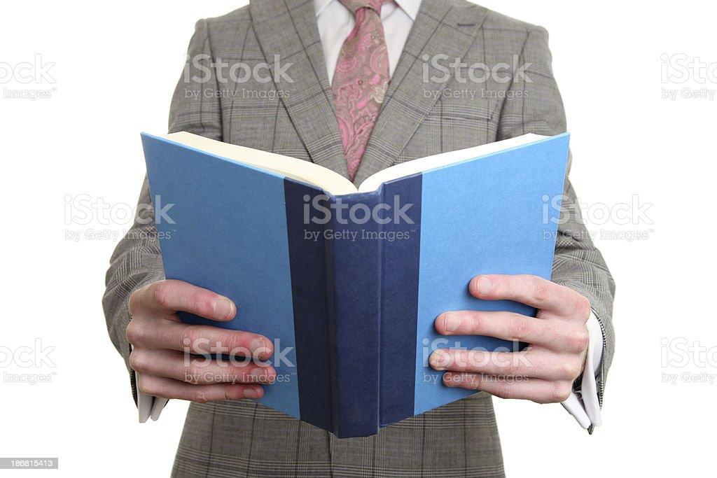Businessman reading royalty-free stock photo