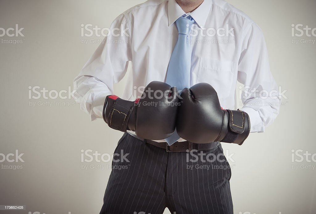 Businessman Ready for a fight royalty-free stock photo