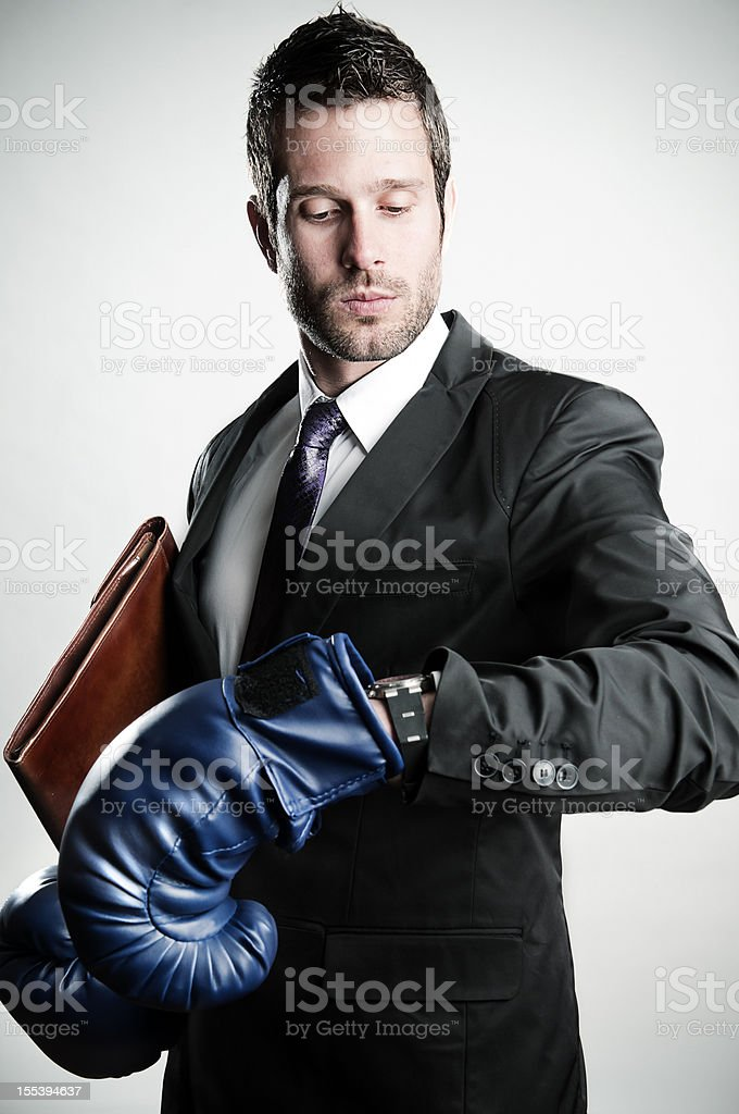 Businessman ready royalty-free stock photo