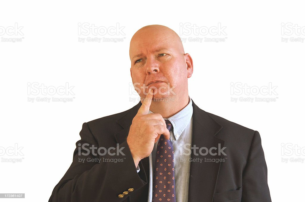 Businessman Remembers royalty-free stock photo