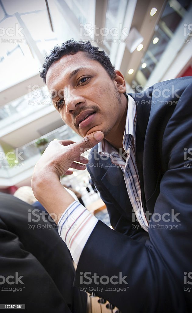 Businessman resting stock photo