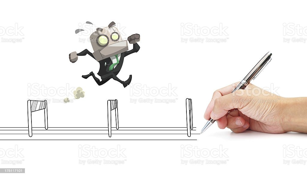 businessman running stock photo