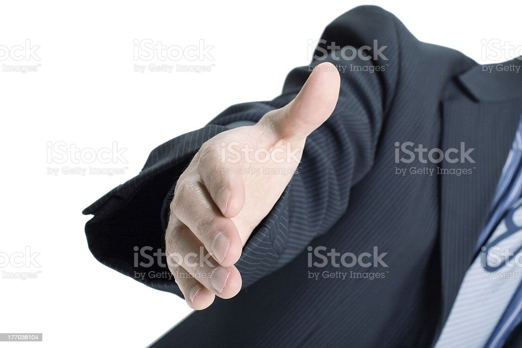 Businessman saying welcome royalty-free stock photo