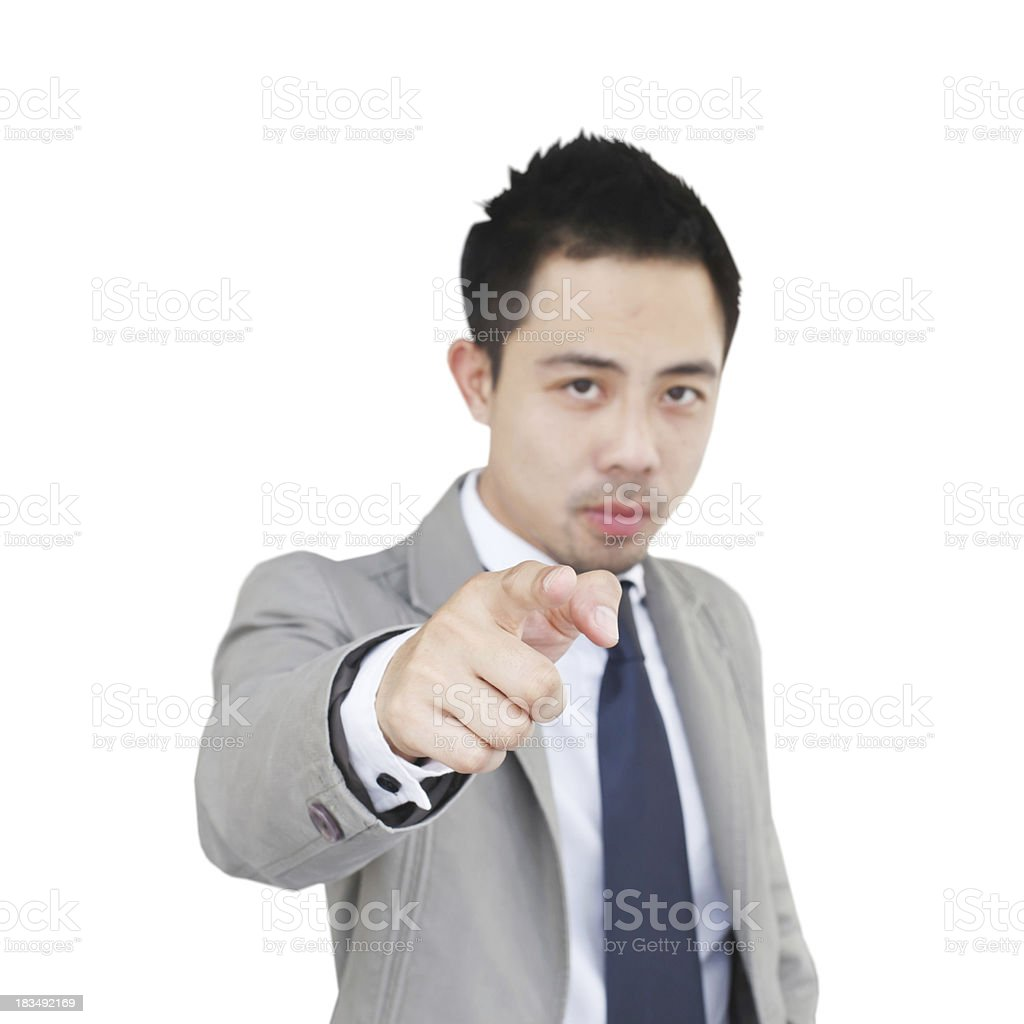 Businessman screaming stock photo