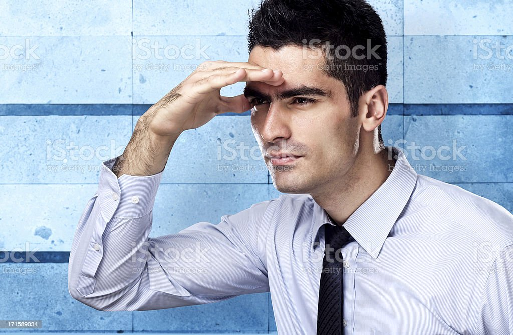 Businessman searching for success royalty-free stock photo