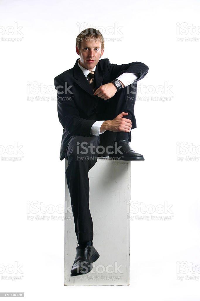 Businessman seated stock photo