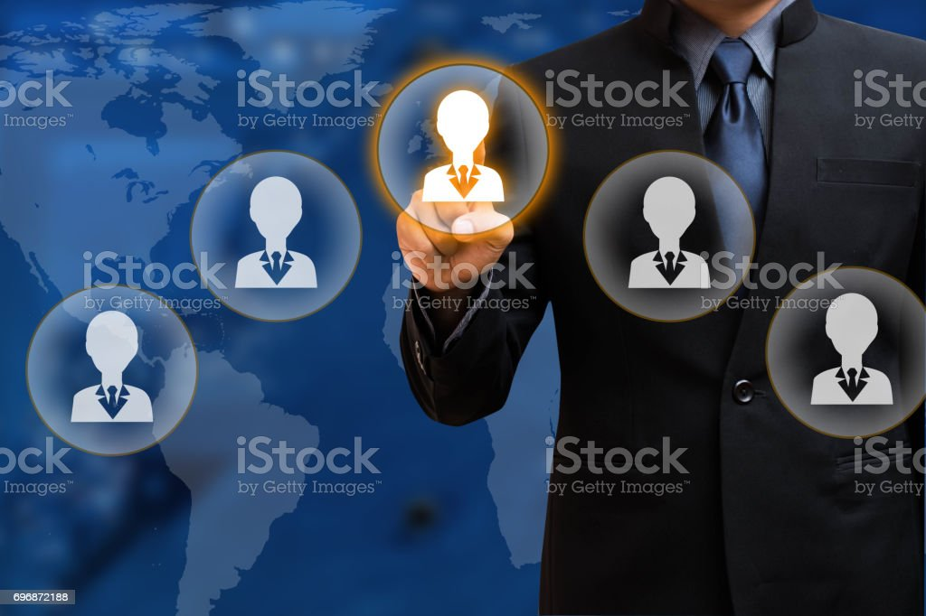 Businessman select Choice stock photo