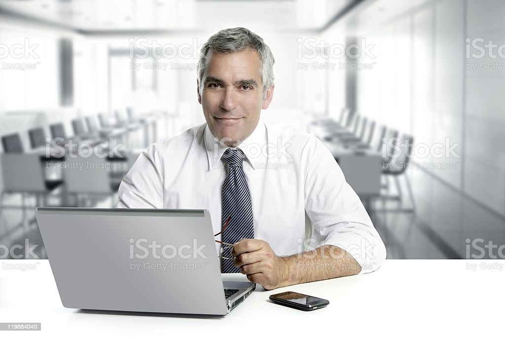 businessman senior working interior modern office royalty-free stock photo