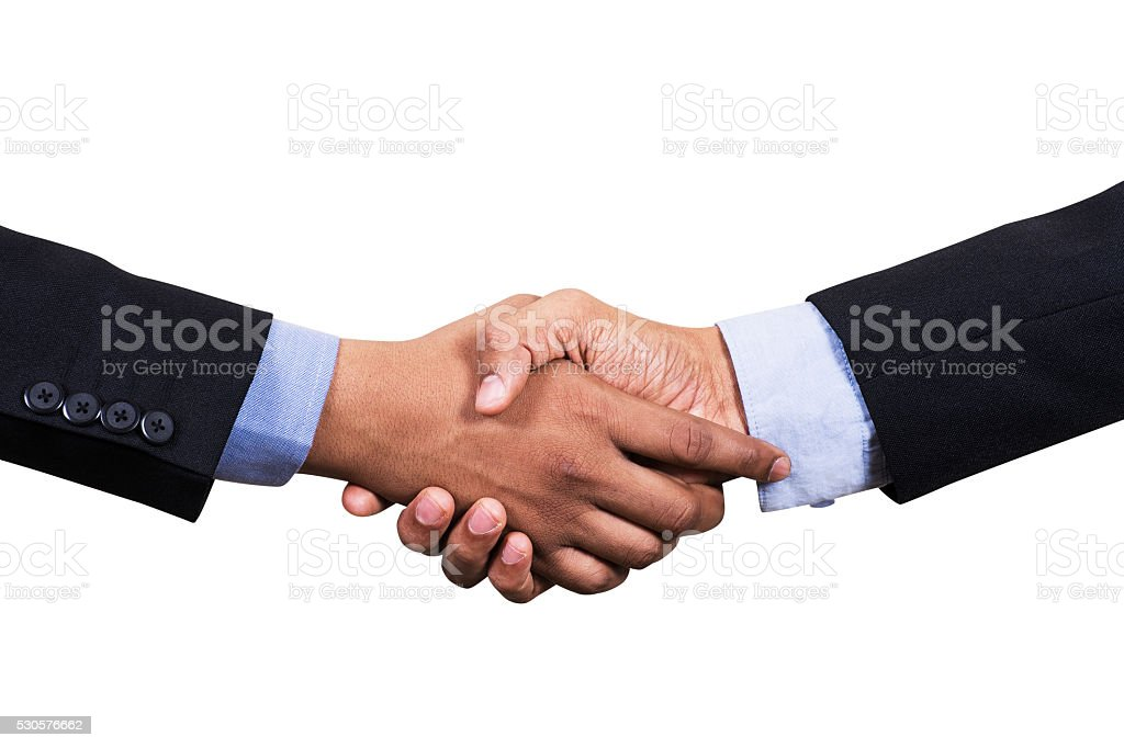 Businessman Shake Hand Each Other stock photo