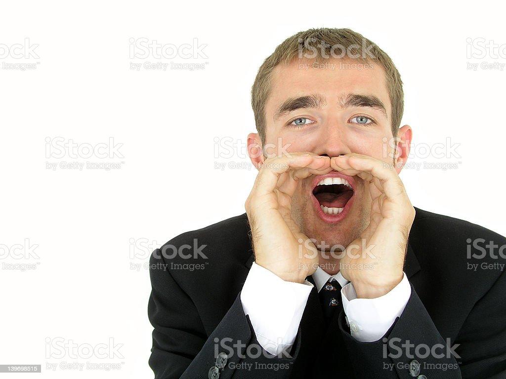 Businessman Shouting royalty-free stock photo