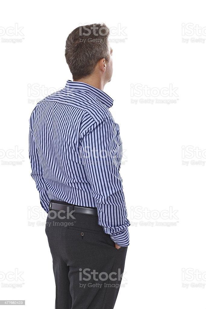 Businessman showing back stock photo